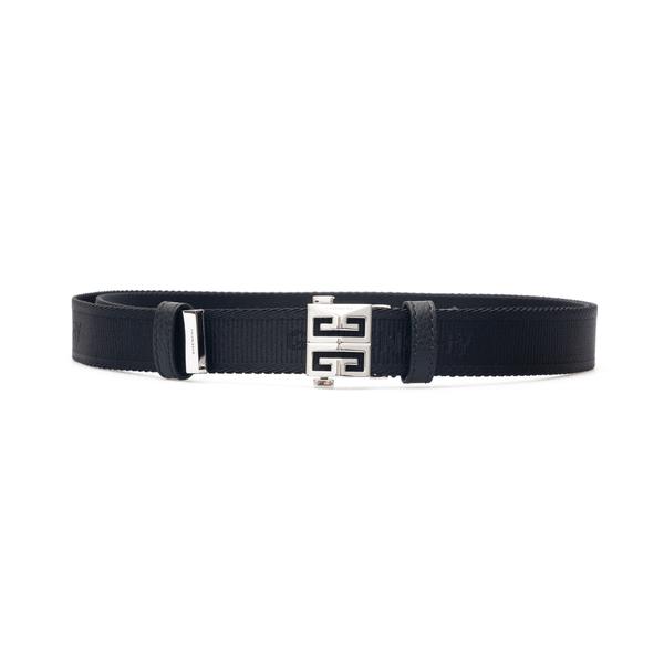Black belt with silver logo                                                                                                                           Givenchy BK404F back