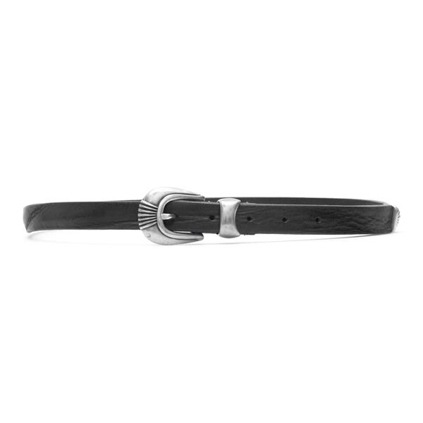 Cintura nera con fibbia argentata                                                                                                                     Tagliatore CU03 retro