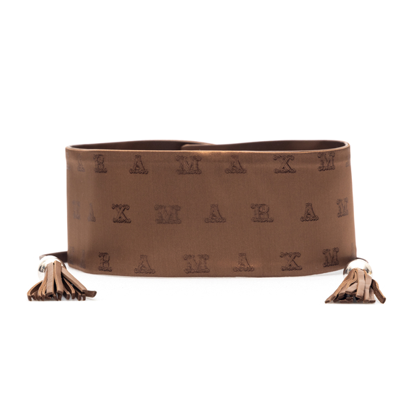 Double face brown belt                                                                                                                                Max Mara ELIA front