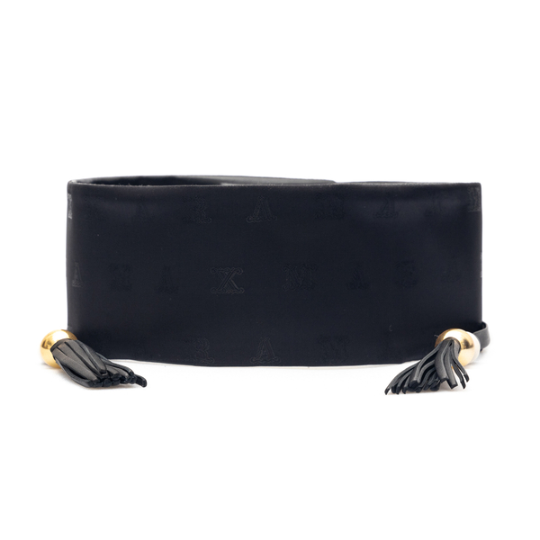 Black band belt with tassels and beads                                                                                                                Max Mara ELIA front