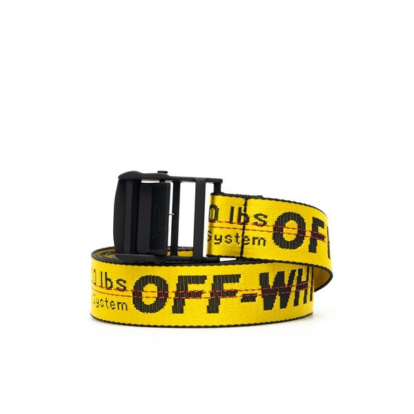 Industrial yellow belt with logo                                                                                                                      Off White OMRB012S21FAB001 back