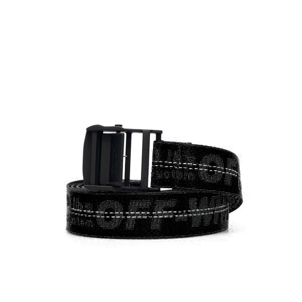 Black Industrial belt with logo                                                                                                                       Off White OMRB012S21FAB001 back