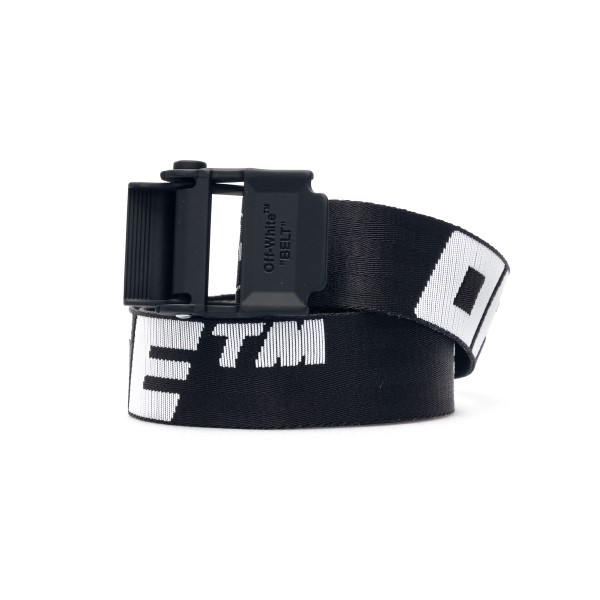 Black Industrial belt with logo                                                                                                                       Off white OMRB034R21FAB001 front