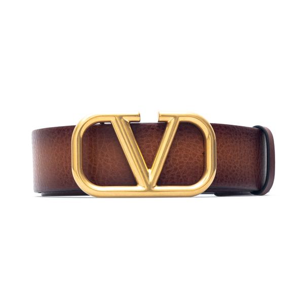 Brown belt with golden V                                                                                                                              Valentino Garavani VW0T0S11 back