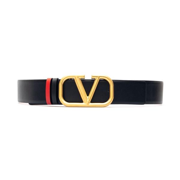 Cintura nera con fibbia a V                                                                                                                           Valentino garavani VW2T0S11 fronte