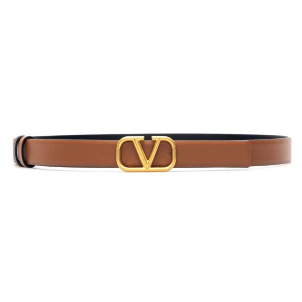 Brown belt with V logo                                                                                                                                Valentino garavani VW2T0S12 front