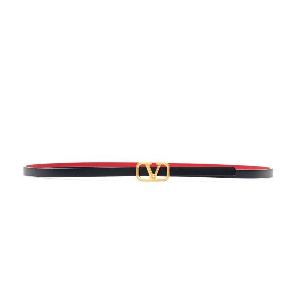 Cintura nera con logo dorato                                                                                                                          Valentino garavani VW2T0U05 fronte