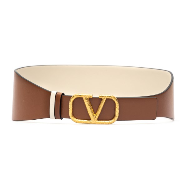 Brown belt with golden logo                                                                                                                           Valentino Garavani VW2T0V50 back