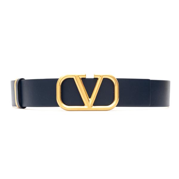 Cintura nera con V dorata                                                                                                                             Valentino Garavani WW2T0S11 retro