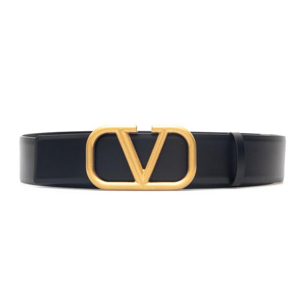Black belt with V buckle                                                                                                                              Valentino Garavani WY0T0Q87 back
