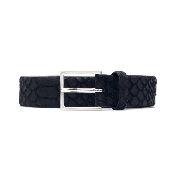 Black belt with crocodile texture                                                                                                                     Emporio Armani Y4S458 back