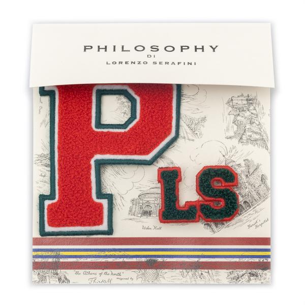 Spilla con patch PLS                                                                                                                                  Philosophy 3806 retro