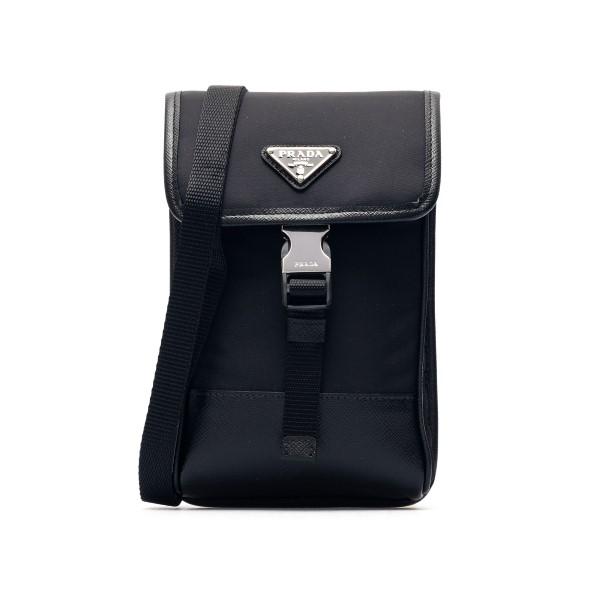 Black smartphone holder with logo                                                                                                                     Prada 2ZH109 front
