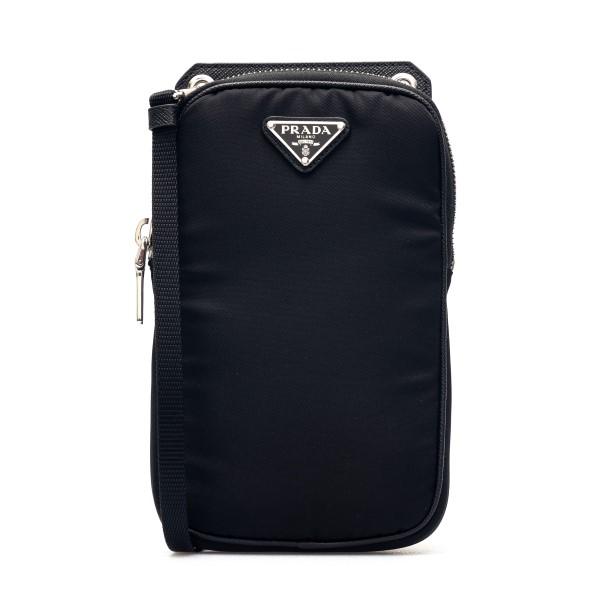 Black smartphone case with logo                                                                                                                       Prada 2ZT012 front