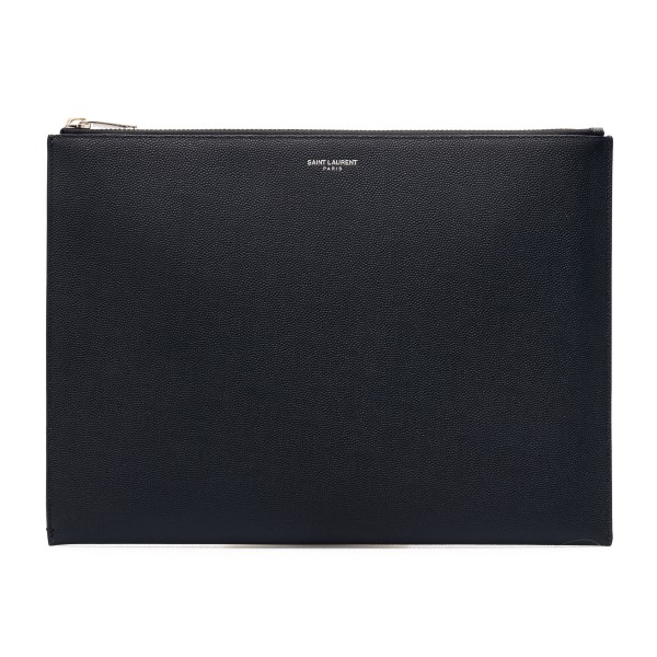 Custodia per tablet nera con logo                                                                                                                     Saint laurent 397294 fronte