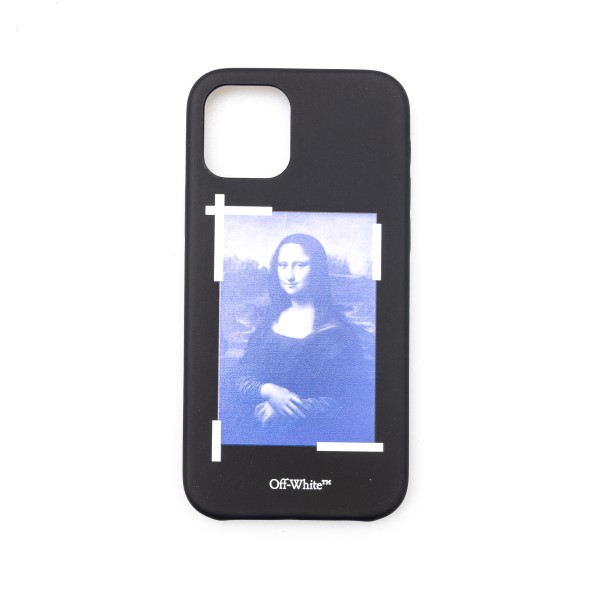 Iphone cover with Mona Lisa print                                                                                                                     Off white OMPA026R21PLA012 front
