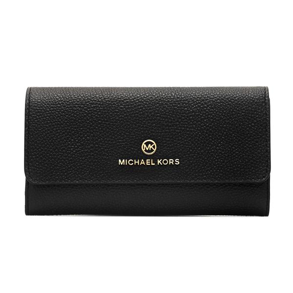 Portafoglio nero con logo oro                                                                                                                         Michael Kors 34F1GT9E3L retro