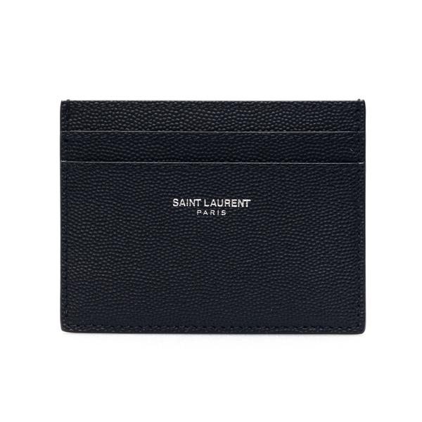 Black card holder with logo print                                                                                                                     Saint Laurent 375946 back