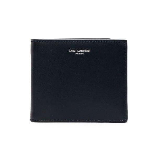 Black wallet with logo print                                                                                                                          Saint laurent 396303 front