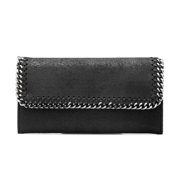 Portafoglio rettangolare nero con catena                                                                                                              Stella Mccartney 430999 retro