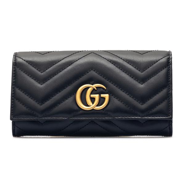 Portafoglio nero con cuciture geometriche                                                                                                             Gucci 443436 retro