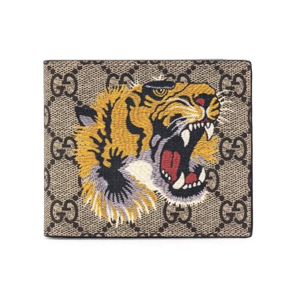 Portafoglio beige con stampa a tigre                                                                                                                  Gucci 451268 retro