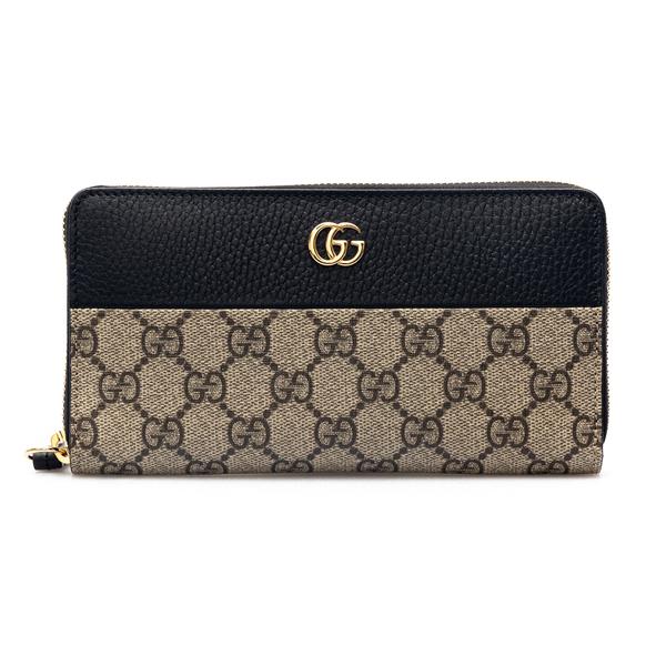 Portafoglio beige con logo                                                                                                                            Gucci 456117 retro