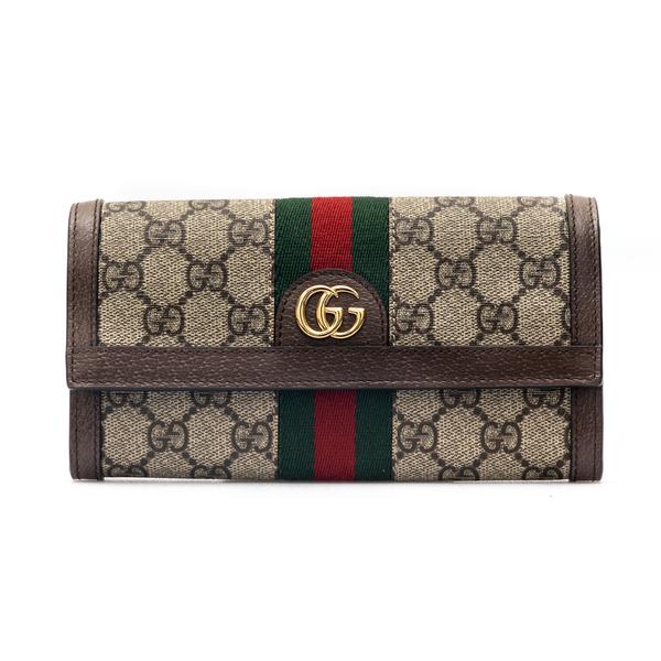 Portafoglio beige con pattern logo                                                                                                                    Gucci 523153 retro