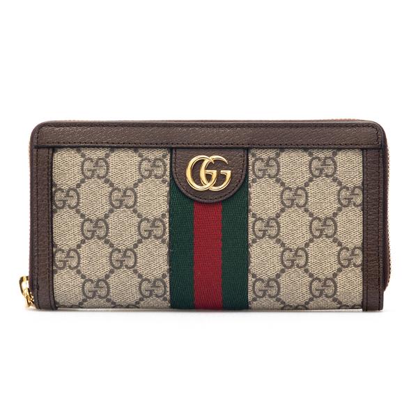 Portafoglio beige con pattern logo                                                                                                                    Gucci 523154 retro