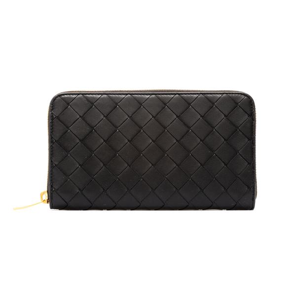 Portafoglio nero intrecciato                                                                                                                          Bottega Veneta 608053 retro