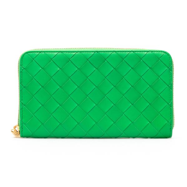 Portafoglio verde intrecciato                                                                                                                         Bottega Veneta 608053 retro