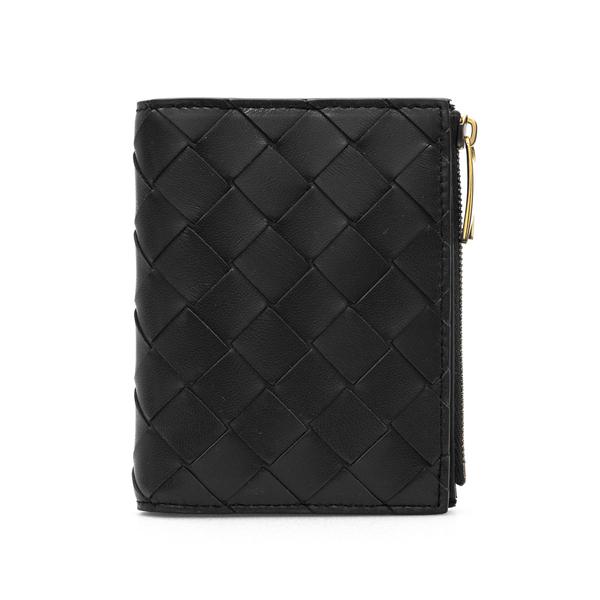 Portafoglio nero intrecciato                                                                                                                          Bottega Veneta 608059 retro