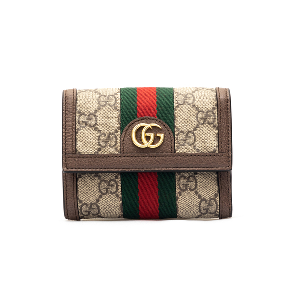 Portafoglio beige con fascia bicolore                                                                                                                 Gucci 625703 retro