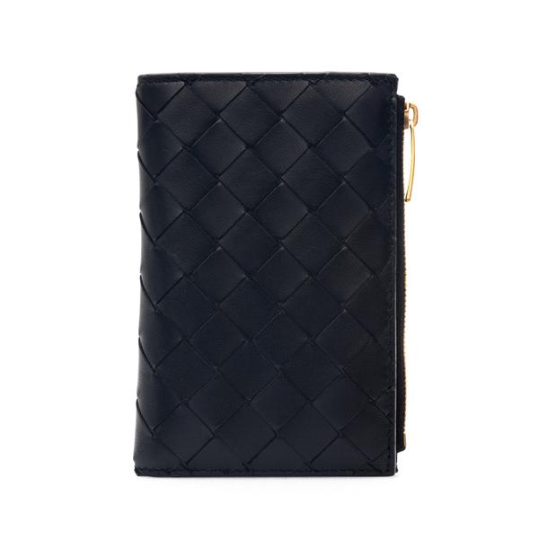 Portafoglio nero con texture intrecciata                                                                                                              Bottega Veneta 667468 retro
