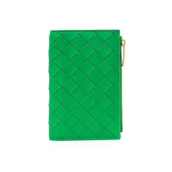 Portafoglio verde intrecciato                                                                                                                         Bottega Veneta 667468 retro