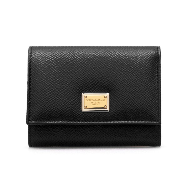 Black leather wallet with logo plaque                                                                                                                 Dolce&gabbana BI0770 back