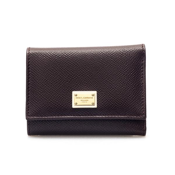 Portafoglio marrone con placca logo                                                                                                                   Dolce&gabbana BI0770 retro