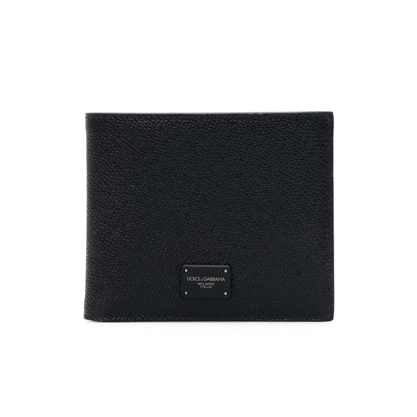 Black wallet with tonal logo                                                                                                                          Dolce&gabbana BP1321 back