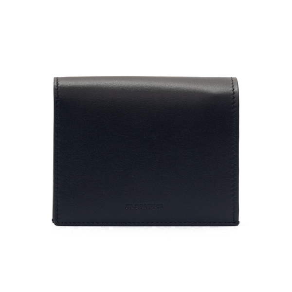 Portafoglio nero con logo goffrato                                                                                                                    Jil Sander JSMS840137 retro