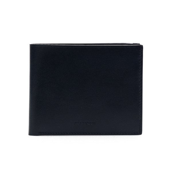 Portafoglio nero stile bi-fold con logo                                                                                                               Jil Sander JSMS840073 retro