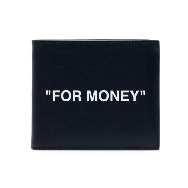 Portafoglio nero con scritta                                                                                                                          Off White OMNC020R21LEA001 retro