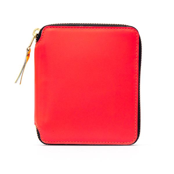 Portafoglio rosso con chiusura a zip                                                                                                                  Comme Des Garcons Play SA2100SF retro