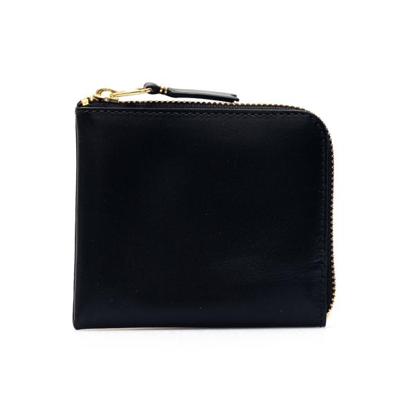 Portafoglio quadrato nero con zip                                                                                                                     Comme Des Garcons Play SA3100 retro
