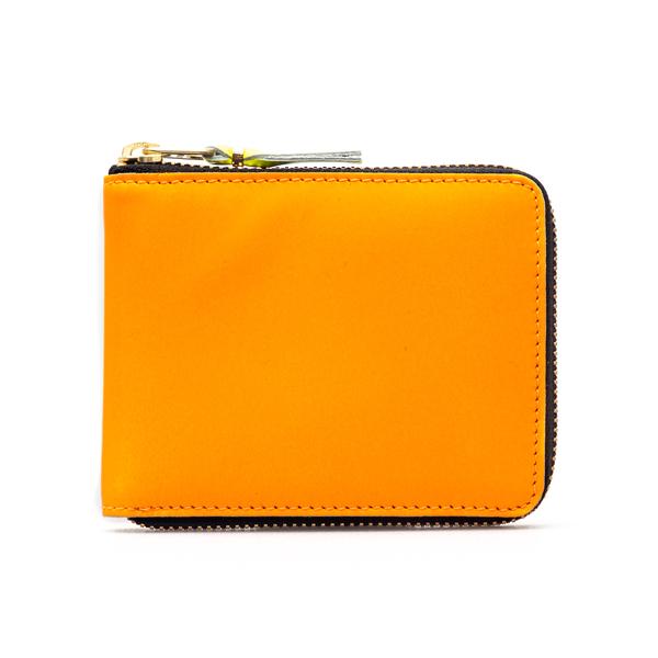 Portafoglio arancione con zip                                                                                                                         Comme Des Garcons Play SA7100SF retro