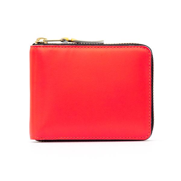 Portafoglio rosso con interni multicolore                                                                                                             Comme Des Garcons Play SA7100SF retro