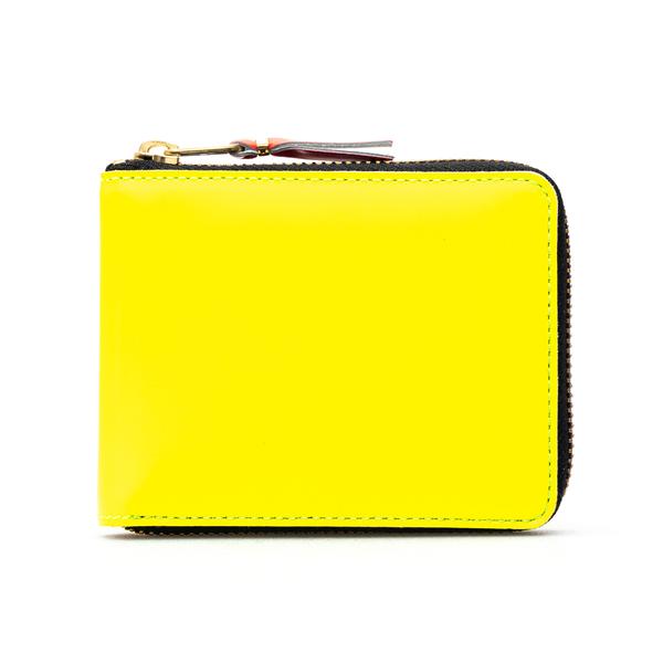 Portafoglio giallo con interni multicolore                                                                                                            Comme Des Garcons Play SA7100SF retro