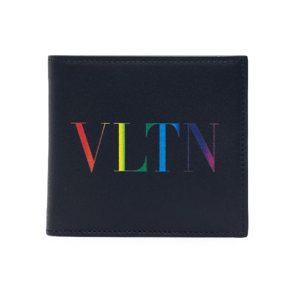 Black wallet with rainbow logo                                                                                                                        Valentino garavani VY2P0654 front