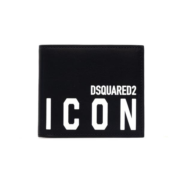 Portafoglio bi-fold con nome brand                                                                                                                    Dsquared2 WAM0015 retro