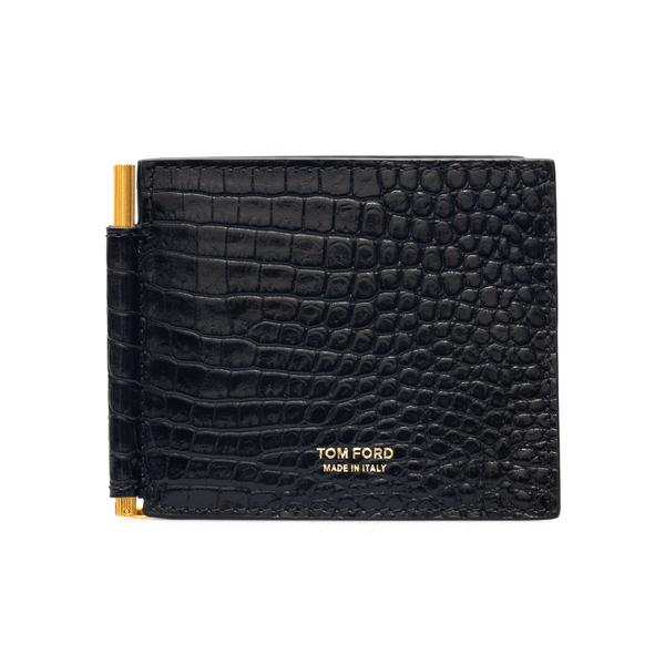 Portafoglio nero con clip per banconote                                                                                                               Tom Ford Y0231T retro