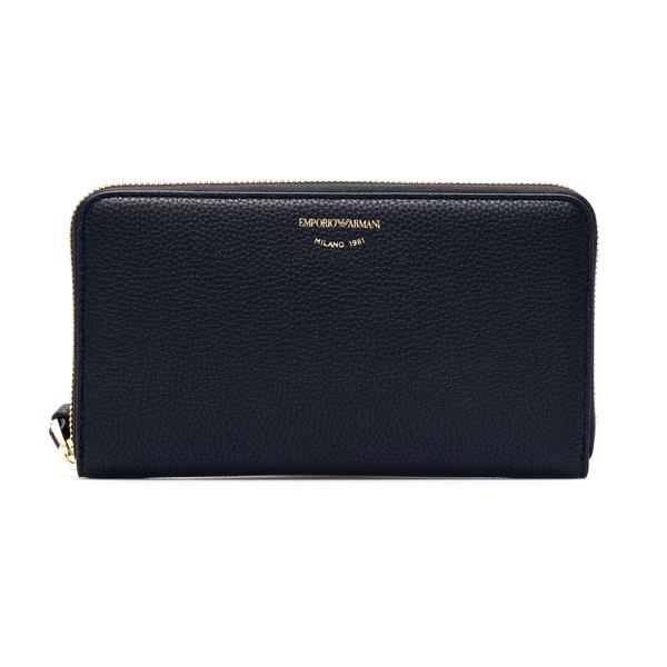Portafoglio nero con logo oro                                                                                                                         Emporio Armani Y3H168 retro